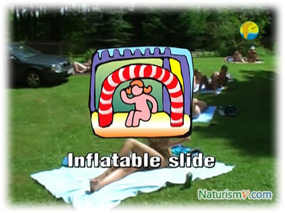 Надувная Горка / Inflatable Slide (Naturist Freedom)
